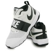 Nike Team Hustle blanc, chaussures de basketball enfant