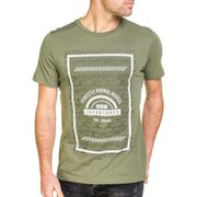 T-shirt homme kaki imprimé graphique
