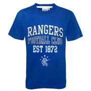 Rangers FC officiel - T-shirt thème football pour garçon - motif graphique - bleu roi