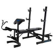 Banc olympique de musculation Bench FI502 FI502. Structure en acier. Avec support pour haltères.  Tout les muscles