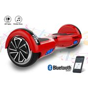 Mega Motion Hoverboard Gyropode 6.5 pouces bluetooth rouge + Housse en silicone protection pour hoverboard  Gyropode 6,5 pouces, bleu