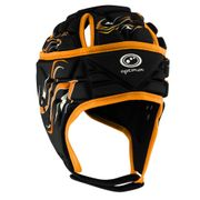 Optimum Inferno Rugby Headguard Scrumcap Black / Orange - Small Boys