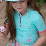 Princesse Mayo Parasol Ensemble tee-shirt manches courtes et shorty anti uv fille