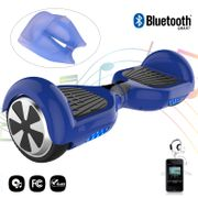 COOL&FUN hoverboard gyropode Bluetooth 6.5 Pouces blue + Housse en silicone protection pour hoverboard  Gyropode 6,5 pouces, bleu