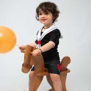 Petit Matelot Mayo Parasol Ensemble t-shirt anti uv bébé et short couche