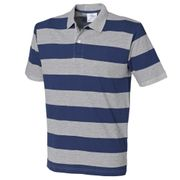 Front Row - Polo rayé à manches courtes 100% coton - Homme