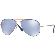 Ray-Ban Aviator Junior Bleu Miroité