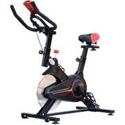 Vélo d'appartement cardio vélo biking écran multifonction selle et guidon réglable noir rouge 52