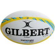 BALLON DE RUGBY  Ballon de rugby a 7 féminin SYNERGIE WRX - Taille 5 - Jaune Fizz / Bleu