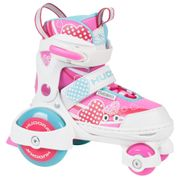 Hudora - Patin A Roulette Enfant Rose Pointure 30-33