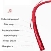 Écouteur bluetooth-Q14 Accroché au Cou de Sport sans Fil Dans l'oreille Bluetooth Écouteurs(Noir)
