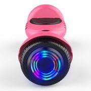 Hoverboard gyropode bluetooth 6.5 pouces, scooter Roues lumineuses à LED de nouvelle génération Q2, rose