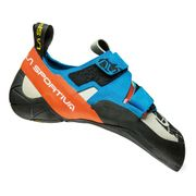 Chaussons d'escalade La Sportiva Otaki blanc bleu orange