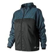 Veste coupe-vent New Balance Light Packjacket Hooded noir bleu femme - Veste fine