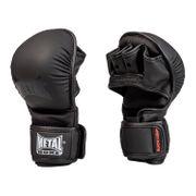 Gants de MMA entraînement Métal boxe-S--S-NOIR--------------NOIR-S