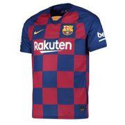 Nouveau Maillot Nike Homme FC Barcelone Domicile Flocage Officiel Messi Numéro 10 Saison 2019/2020