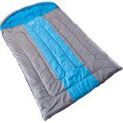 Orkney - Sac de couchage couverture synthétique double - 2 Personnes - 235 x 150 cm - gris/bleu clair