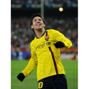 Maillot extérieur manches longues FC Barcelone 2008/2009 Messi-L