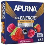 Lot de 5 gels Apurna Energie Longue Distance Fruits Rouges - 35g