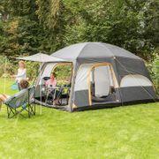 Tonsberg 5 - Tente familiale avec tapis de sol cousu - 5 personnes - 420 x 300 cm - Gris