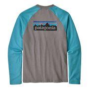 Sweatshirt Patagonia P-6 Logo Lightweight Crew gris bleu