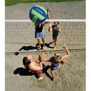 Hudora Mega beach volleyball - ballon de beach 40,5 - bleu/vert