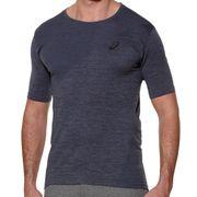 Fitness Top Short Shirt Seamless Asics Sleeve Grey Mens Running qpT0HX