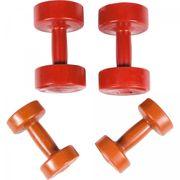 Gorilla Sports - Set d'haltères Fitness en plastique - 6 kg