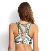Haut de maillot de bain Brassière Seafolly Palm Beach Crop Top Vert