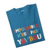 T-shirt fille Impossible n'est pas Yavbou