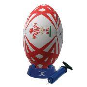 Ballon de rugby gonflable Gilbert Pays de Galles (tu)