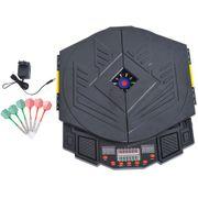 Cible jeu de fléchettes électronique 27 jeux jusqu'à 8 joueurs LED haut-parleur noir