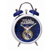 Réveil Real Madrid en métal é cloche modéle officiel 8 cm - unique bleu
