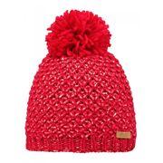 BARTS-Bonnet à pompon rouge légèrement brillant Enfant Fille 3 au 10 ans Barts