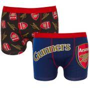 Arsenal FC officiel - Lot de 2 boxers thème football - homme