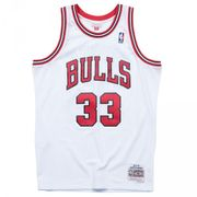 Maillot NBA Scottie Pippen Chicago Bulls 1997-98 Mitchell & ness Hardwood Classic Swingman Blanc taille - S