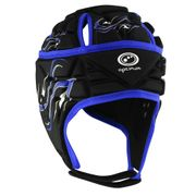Optimum Inferno Rugby Headguard Scrumcap Black / Blue - Large Boys