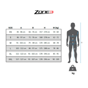 Combinaison de triathlon Zone3 Activate Plus sans manches noir jaune