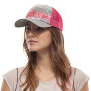 Casquette Buff Trucker Cap Biome gris rose multicolore femme