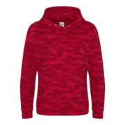 Sweat-shirt à capuche camo homme - JH014 - rouge camouflage