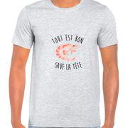 T Shirt Col Rond Imprime Tout est bon sauf la tete