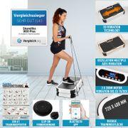 Home Vibration Plate 900 Smart - Plateforme vibrante oscillante - 5 Programmes - 2 Moteurs - Bluetooth -Appli - Noir