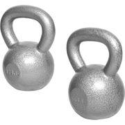 Gorilla Sports - Lot : 2 kettlebells en fonte classique (12kg et 16kg) haltères russe