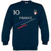 Sweat France 2 étoiles homme bleu marine  Taille de XS au 4XL (Taille: S - couleur: bleu)
