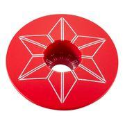 Bouchon de potence Supacaz Star Plugz Powder Coated rouge