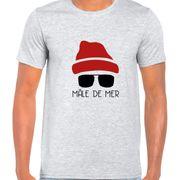 T Shirt Col Rond Imprime Male de mer