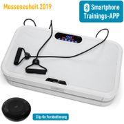 Home Vibration Plate 900 Smart - Plateforme vibrante oscillante - 5 Programmes - 2 Moteurs - Bluetooth -Appli - Blanc