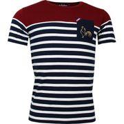 T-shirt rugby Marinière haut bordeaux France