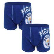 Manchester City FC officiel - Lot de 2 boxers thème football - avec blason - homme