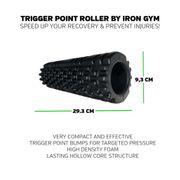 Iron Gym Rouleau de massage des points réflexes Essential Noir IRG050